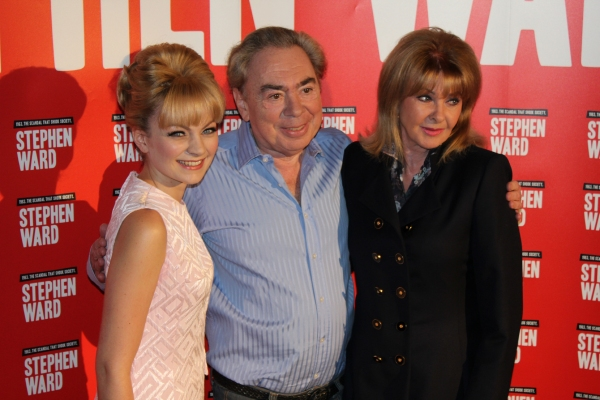 Charlotte Blackledge (Mandy Rice-Davies), Andrew Lloyd Webber and Mandy Rice-Davies