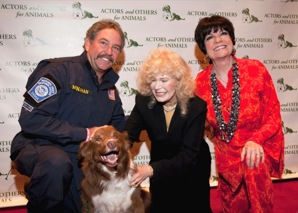 Billy Monahan, Hunter (the Search Dog), Loretta Swit and JoAnne Worley