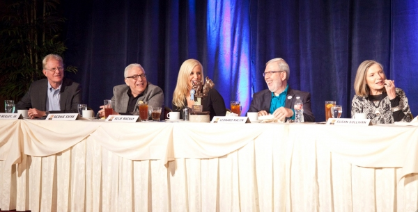 Celebrity Contestants Ed Begley, Jr., Bernie Shaw, Allie Mac Kay, Leonard Maltin and  Photo