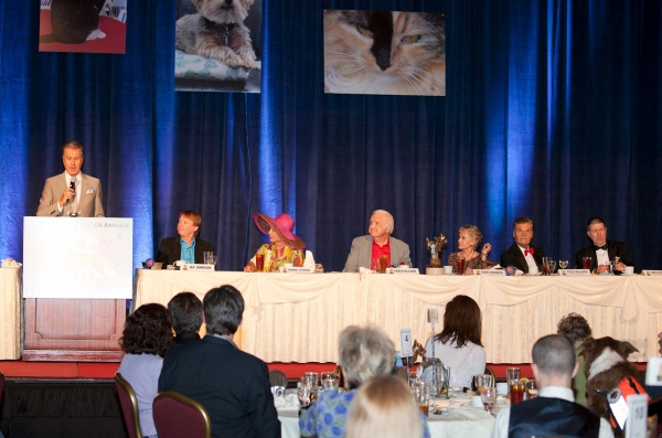 "Emcee, Michael Burger with celebrity contestants Jay Johnson, Ruta Lee (In for Connie Stevens), Chuck McCann, Tippi Hedren and ""Best In Show Hosts Fred Willard and Jim Piddock"