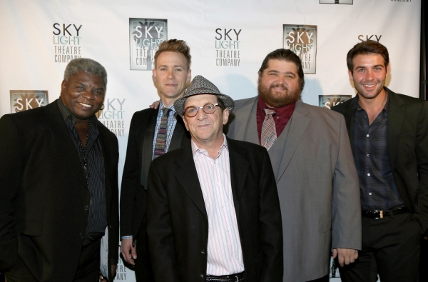 Harrison White, Christopher Hanke, Jorge Garcia and James Wolk stand behind Skylight Theatre Company''s Producing Artistic Director Gary Grossman and his company''s commitment to develop writers and new plays.