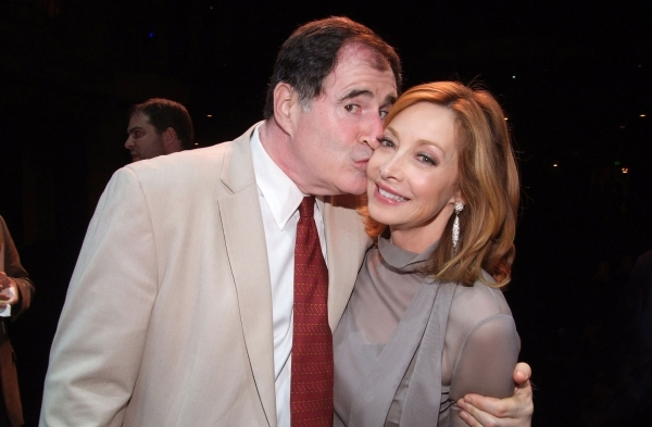 Richard Kind and Sharon Lawrence at the party following their performance.