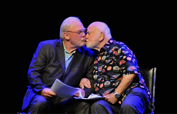 Stacy Keach and Ed Asner share a Terrence McNally moment. Photo