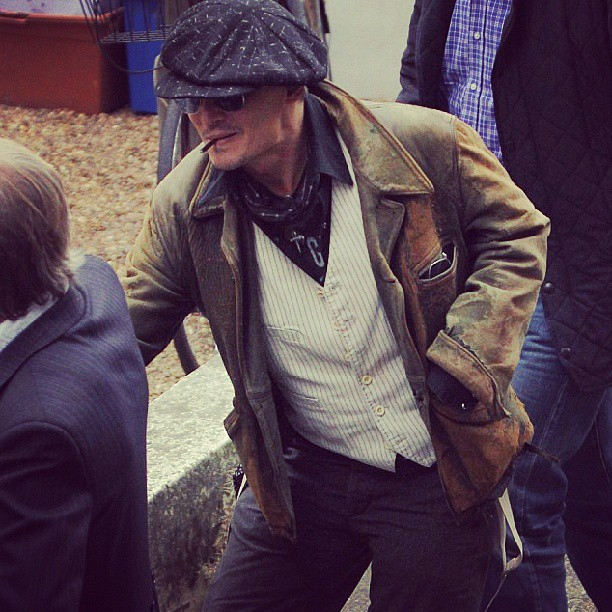 First Look At Johnny Depp Going INTO THE WOODS!