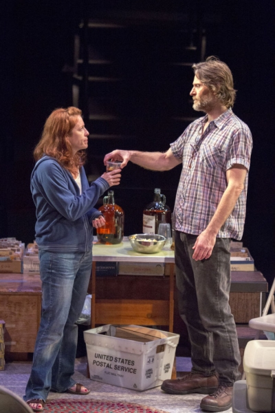 Eva Kaminsky as QZ and Michael Laurence as Bryan