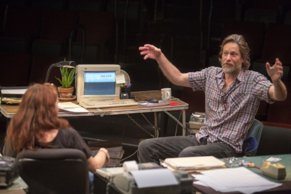 Eva Kaminsky as QZ and Michael Laurence as Bryan  Photo