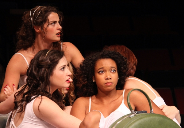 Marisa Desa  as Olympia (lower left), Briana Maia as Lydia (right) and Olivia Saccomanno as Thyona (rear)
