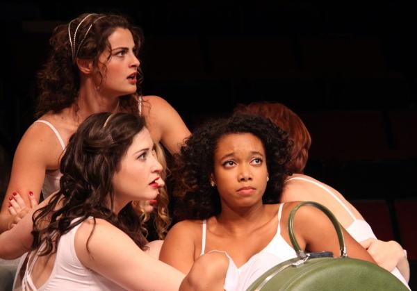 Marisa Desa  as Olympia (lower left), Briana Maia as Lydia (right) and Olivia Saccomanno as Thyona (rear)