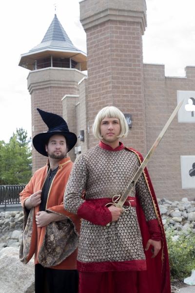 Justin Stockett is Merlin and Aaron James is Arthur