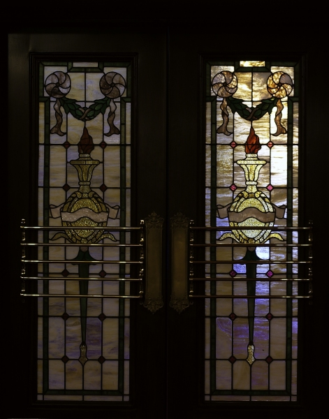 Stained Glass Window Doors in the lobby Entrance
