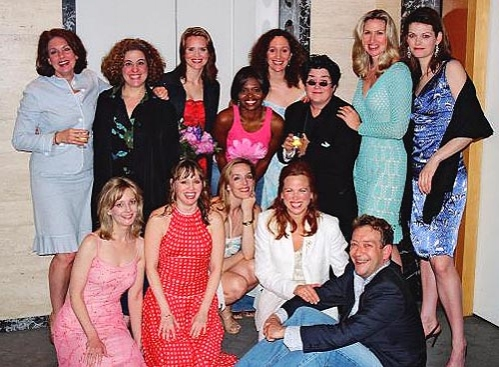 Michelle Pawk, Mary Testa, Jennifer Laura Thompson, LaChanze, Barbara Walsh, Lea Delaria, Luba Mason and Kate Shindle Bottom Row: Heather Lee, Sally Murphy, Julia Murney, Carolee Carmello and Michael John LaChiusa (''The Girly Show'' a Celebration of the
