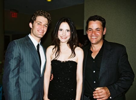 Matthew Morrison, Mary Louise Parker and Adam Guettel (Tony Awards After Party 2005)