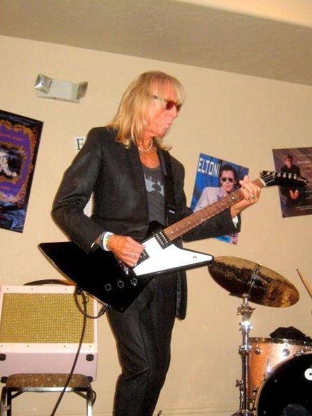 Elton John''s lead guitarist, Davey Johnstone, performs at Elton Expo.