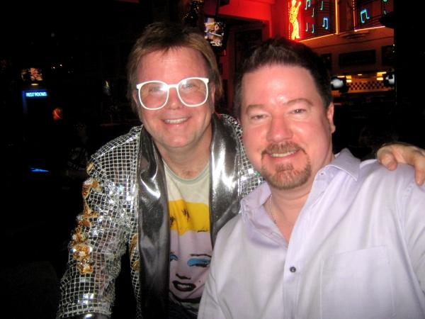 Ron Camilleri (aka ''Elton Rohn'') with record producer Matt Still, who produced Elton John''s ''The Captain and the Kid'' and ''Peachtree Road.''