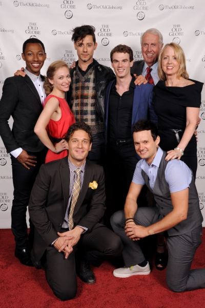 Harvey White and Sheryl White, Production Sponsors (far right), with cast members (from left) Brandon Gill, Talisa Friedman, Eric Morris, Hale Appleman, Jay Armstrong Johnson and Jeremy Woodard