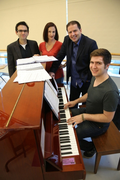 Writer Joe Iconis, choreographer Jennifer Werner, director John Simpkins and music director Charlie Rosen