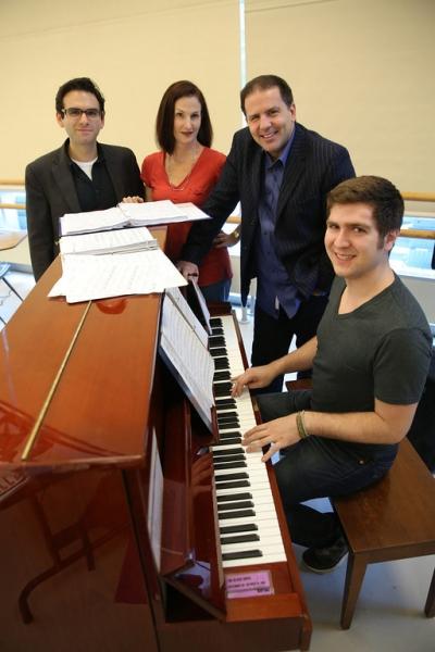 Writer Joe Iconis, choreographer Jennifer Werner, director John Simpkins and music director Charlie Rosen