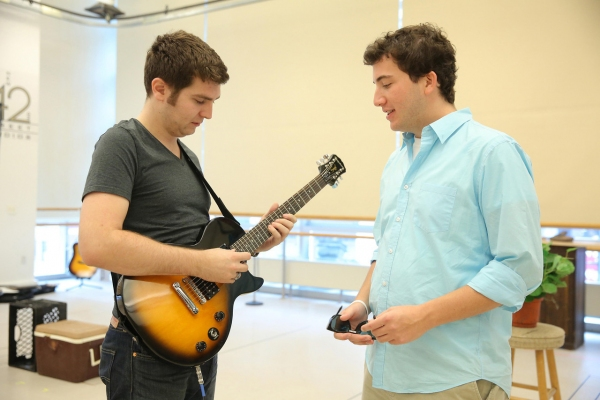 Music director Charlie Rosen and cast member Harrison Chad