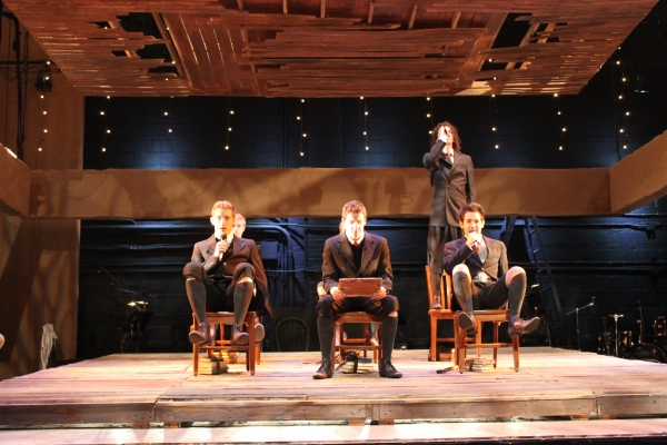 The Boys of Spring Awakening  -- from left: Bryan Dougherty (Hanschen), Michael Barth Photo
