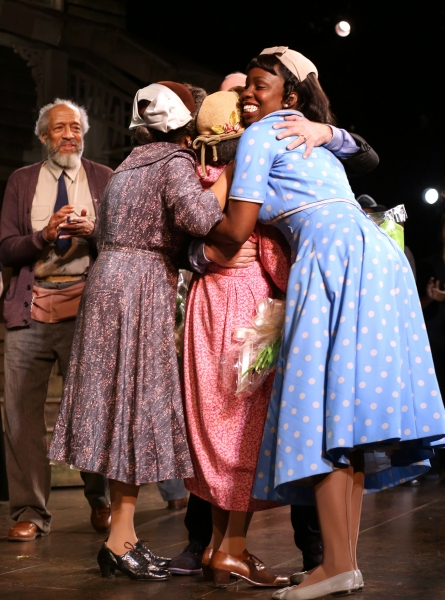 Cicely Tyson with Arthur French, Adepero Odute and the cast