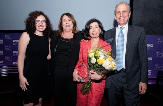 Britten Chroman (Director, Women''s Initiatives, David Lynch Foundation), Candy Crowley, Commissioner Yolanda B. Jimenez and Bob Roth