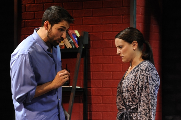 Matthew Block as Miguel Roja and Lauren Bahlman as Emma Photo