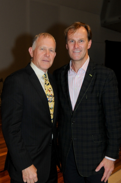 Dennis Shepard with Ford's Theatre Society Director Paul R. Tetreault