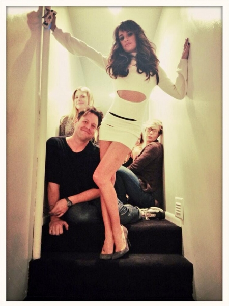 Photo Flash: Lea Michele Hard at Work on Solo Album; Debuts Cover Look on Twitter