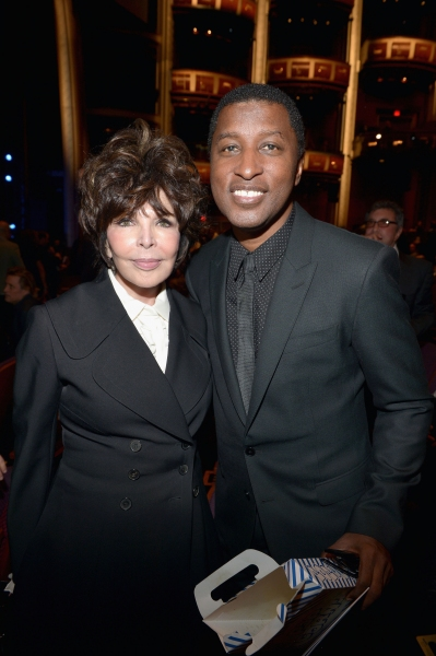 HOLLYWOOD, CA - OCTOBER 12:  Singer-songwriters Kenneth ''Babyface'' Edmonds (R) and Carole Bayer Sager attend ''Hugh Jackman... One Night Only'' Benefiting MPTF at Dolby Theatre on October 12, 2013 in Hollywood, California.  (Photo by Charley Gallay/Gett