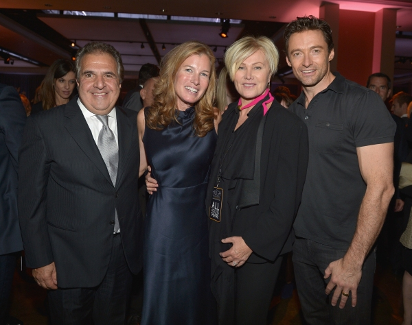 HOLLYWOOD, CA - OCTOBER 12:  Chairman & Chief Executive Officer of Fox Filmed Entertainment Jim Gianopulos, Ann Gianopulos,  Deborra-Lee Furness  and Hugh Jackman attend ''Hugh Jackman... One Night Only'' Benefiting MPTF at Dolby Theatre on October 12, 20