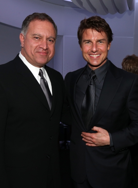 HOLLYWOOD, CA - OCTOBER 12:  Walid Saba, Head of Marketing Design, Chrysler Group LLC. and actor Tom Cruise attend ''Hugh Jackman... One Night Only'' Benefiting MPTF at Dolby Theatre on October 12, 2013 in Hollywood, California.  (Photo by Christopher Pol