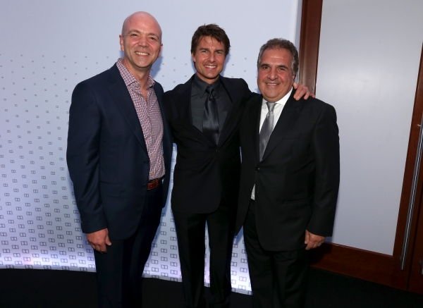 HOLLYWOOD, CA - OCTOBER 12: Actor Tom Cruise (C) and Chairman & Chief Executive Offic Photo