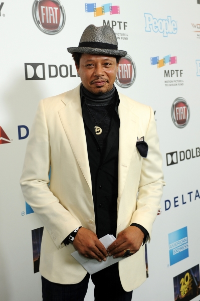 "Actor Terrence Howard attends ""Hugh Jackman... One Night Only"" Benefiting MPTF at Dolby Theatre on October 12, 2013 in Hollywood, CA"