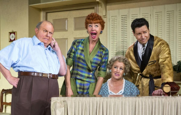 Kevin Remington (Fred), Sirena Irwin (Lucy), Joanna Daniels (Ethel) and Bill Mendieta (Ricky) in the national tour of I LOVE LUCY�® LIVE ON STAGE