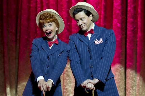 Sirena Irwin as Lucy and Bill Mendieta  in the national tour of I LOVE LUCY® LIVE ON STAGE