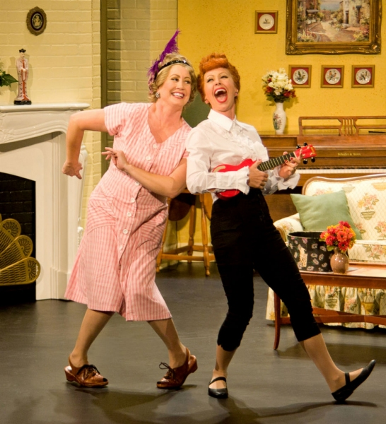 Joanna Daniels as Ethel and Sirena Irwin as Lucy in the Chicago production of I LOVE LUCY�® LIVE ON STAGE