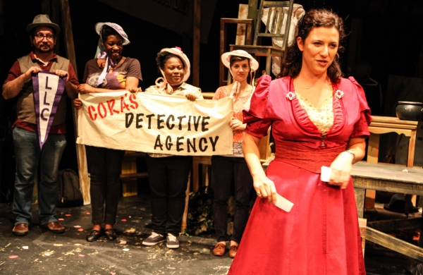 Joe Zarrow, Echaka Agba, BrittneyLove Smith, Jaclyn Hennell and Tracey Kaplan (as Cora Strayer)