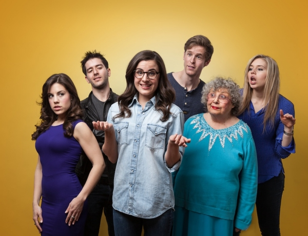 The Cast of ROM.DOT.COM (L to R: Megan Lynch, Nick Ryan, Mikaela Feely-Lehmann, Keith Rubin, Elaine Barrow, Kay Copeland)