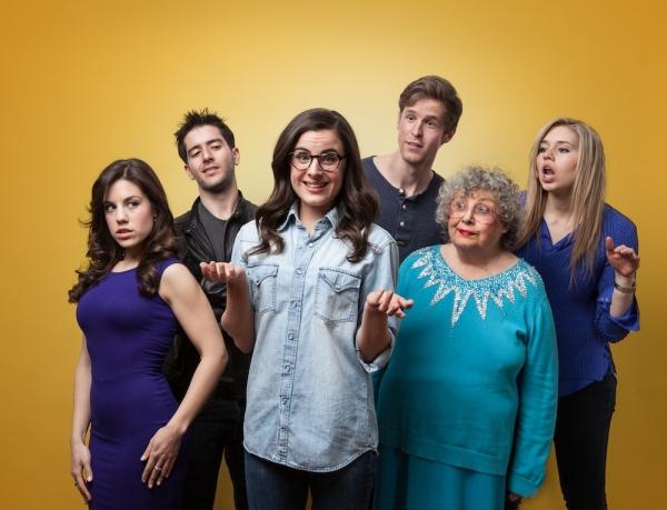 The Cast of ROM.DOT.COM (L to R: Megan Lynch, Nick Ryan, Mikaela Feely-Lehmann, Keith Rubin, Elaine Barrow, Kay Copeland)