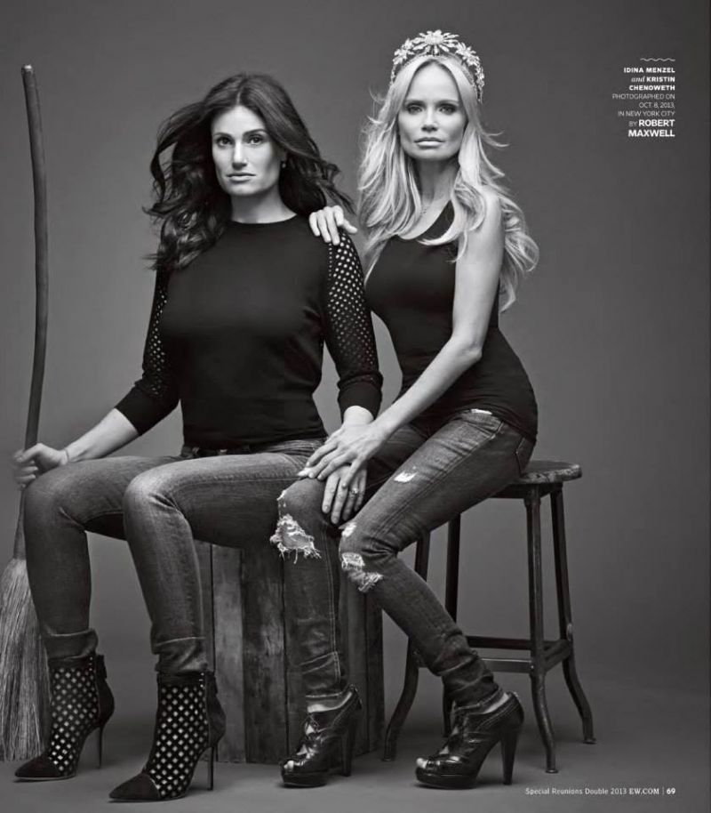For Good! WICKED's Idina Menzel & Kristin Chenoweth Reunite In New Photoshoot
