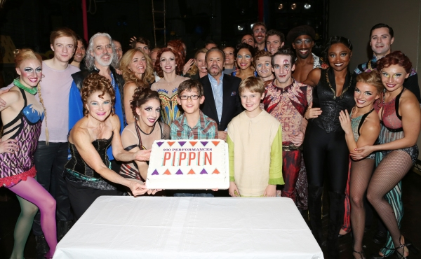 Matthew James Thomas, Terrence Mann, Tovah Feldshuh, Rachel Bay Jones, Charlotte d''Amboise, Producer Barry Weissler, Phillip Rosenberg, Gregory Arsenal, Anthony Wayne, Patina Miller, Erik Altemus and Company c