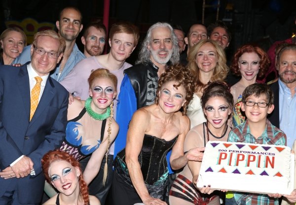 Producer Howard Kagan, Matthew James Thomas, Terrence Mann, Tovah Feldshuh, Rachel Bay Jones, Charlotte d''Amboise, Producer Barry Weissler and Company