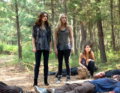 The Originals -- ''Sinners and Saints'' -- Image Number: OR105a_0092.jpg -- Pictured (L-R): Phoebe Tonkin as Hayley, Claire Holt as Rebekah, and Daniella Pineda as Sophie -- Photo: Bob Mahoney/The CW -- © 2013 The CW Network, LLC. All rights reser