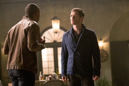 The Originals -- ''Sinners and Saints'' -- Image Number: OR105a_0202.jpg -- Pictured (L-R): Charles Michael Davis as Marcel and Joseph Morgan as Klaus -- Photo: Bob Mahoney/The CW -- © 2013 The CW Network, LLC. All rights reserved