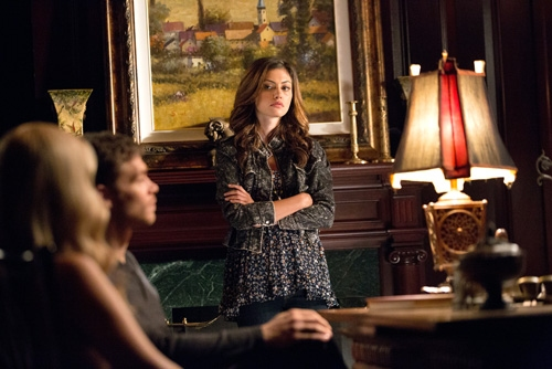 The Originals -- ''Sinners and Saints'' -- Image Number: OR105b_0327.jpg -- Pictured (L-R): Claire Holt as Rebekah, Joseph Morgan as Klaus, and Phoebe Tonkin as Hayley -- Photo: Bob Mahoney/The CW -- © 2013 The CW Network, LLC. All rights reserved