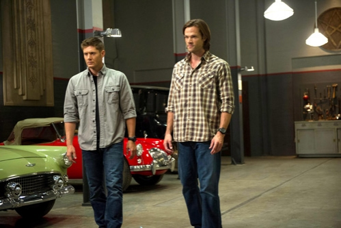 Supernatural -- ''Slumber Party'' -- Image SN904b_0061 -- Pictured (L-R): Jensen Ackles as Dean and Jared Padalecki as Sam -- Credit: Diyah Pera/The CW --  © 2013 The CW Network, LLC. All Rights Reserved