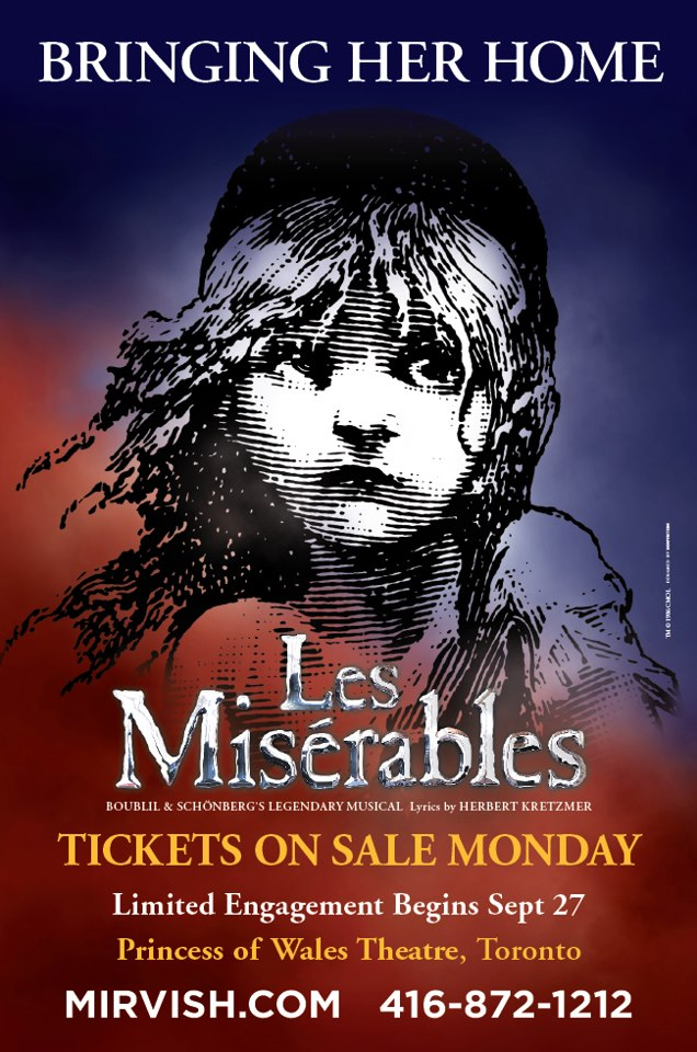 New Promo For Toronto LES MISERABLES