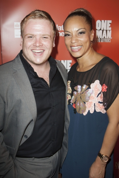 Owain Arthur (Francis Henshall) and Angela Griffin (Dolly)