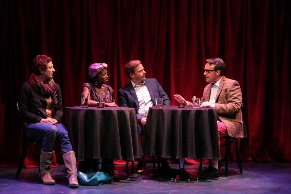 Lise Bruneau (Jane), Felicia Curry (Marrell), Will Gartshore (Jean-Pierre), and Michael Glenn (Alan)
