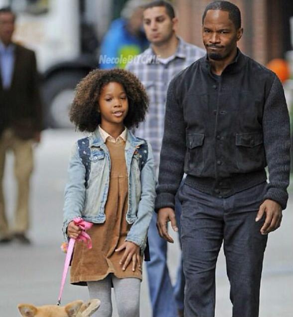 ANNIE Movie Remake Round-Up! Adewale, Foxx & Wallis On Location In NYC; New Photos